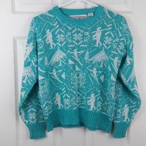 Vintage 80s Adam French Acrylic Ski Sweater
